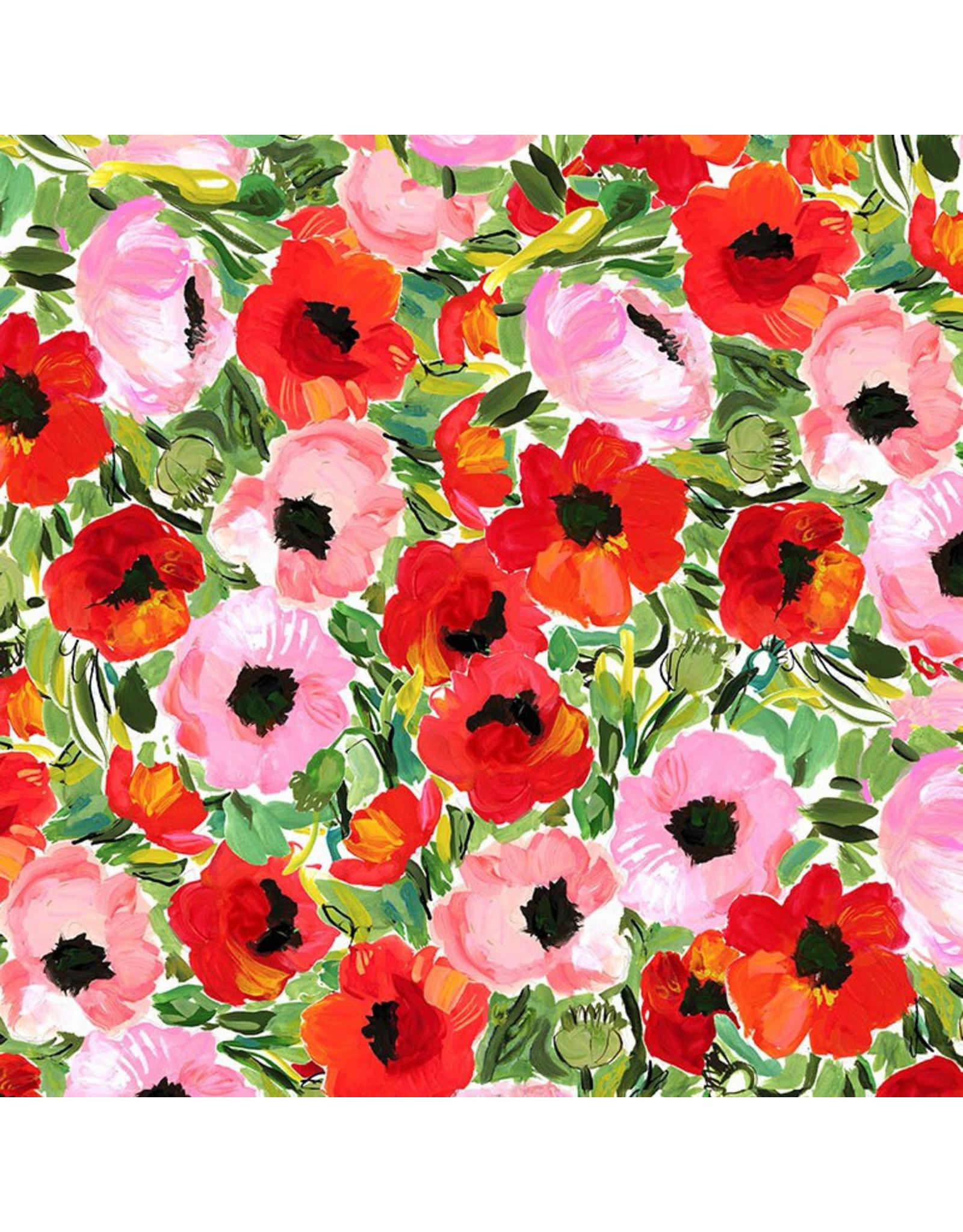 August Wren Chef's Table, Poppy Field in Multi, Fabric Half-Yards