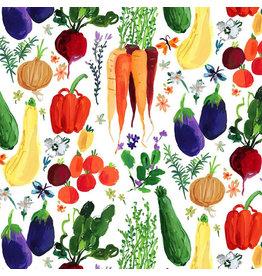 August Wren Chef's Table, Veggie Haul in Multi, Fabric Half-Yards