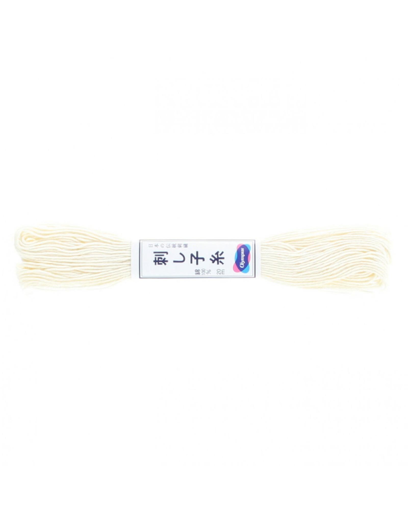 Olympus Sashiko Thread, Off-White, 22 yd. skein, 100% Cotton