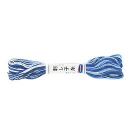 Olympus Sashiko Thread, Variegated Blue, 22 yd. skein, 100% Cotton