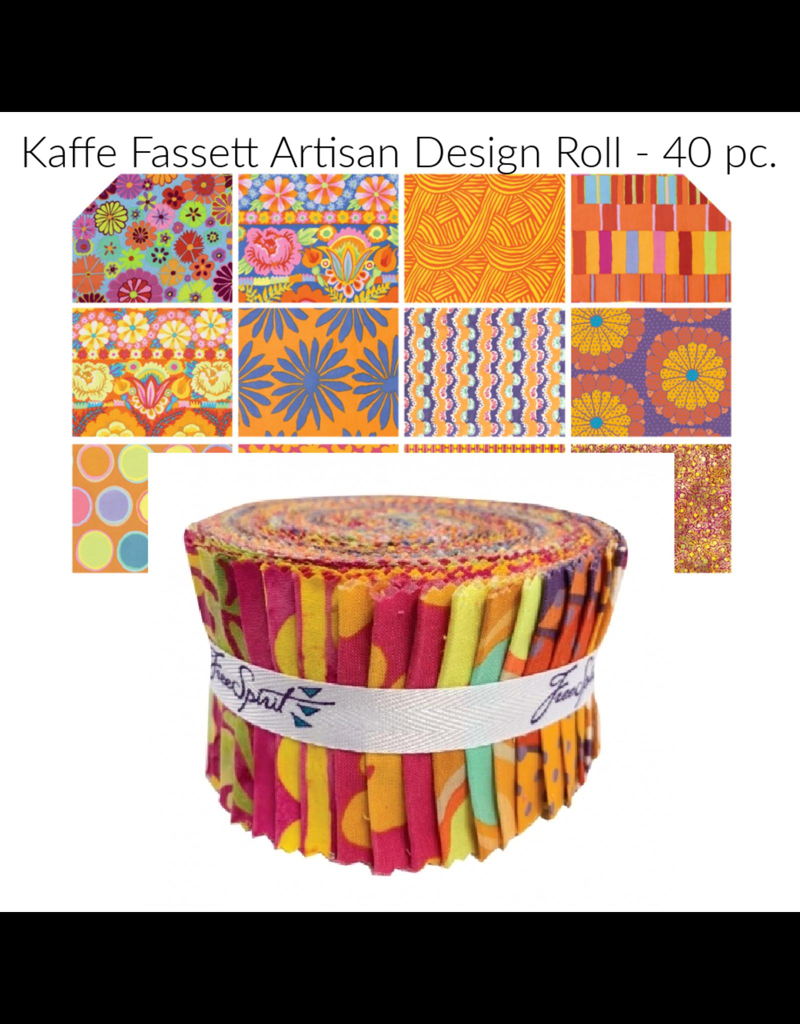 Kaffe Fassett Artisan Soprano by Kaffe Fassett, Jelly Roll, 40 pc. Design Roll