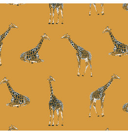 RJR Fabrics Magic of Serengeti, Giraffe in Golden Vista, Fabric Half-Yards