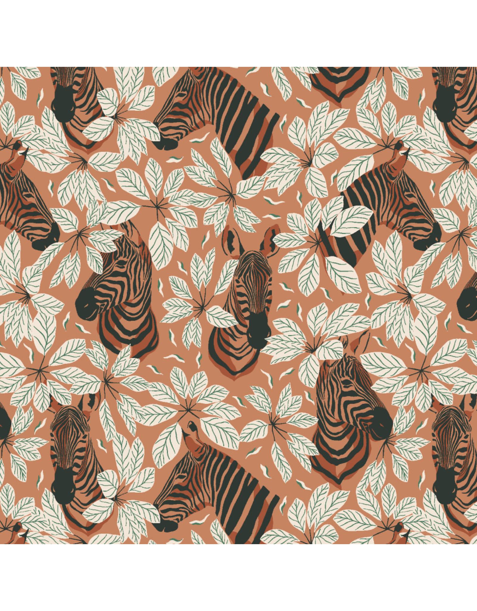 RJR Fabrics Magic of Serengeti, Happy Zebra in Amber Winds, Fabric Half-Yards