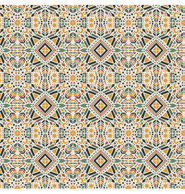 RJR Fabrics Magic of Serengeti, Southern Geometry in Fresh Dew, Fabric Half-Yards