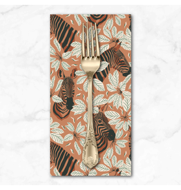 PD's RJR Collection Magic of Serengeti, Happy Zebra in Amber Winds, Dinner Napkin