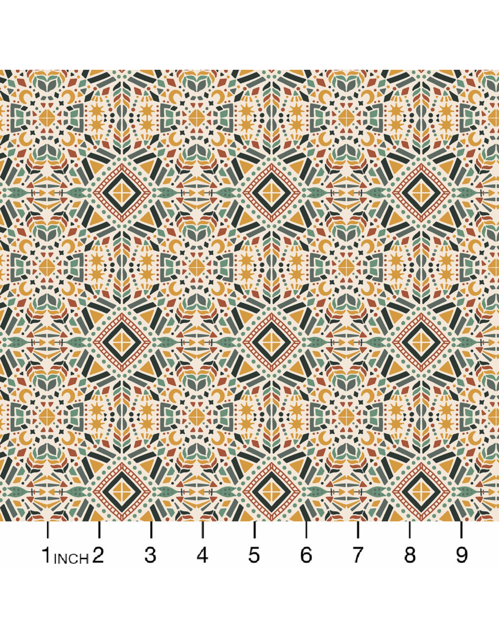 PD's RJR Collection Magic of Serengeti, Southern Geometry in Fresh Dew, Dinner Napkin