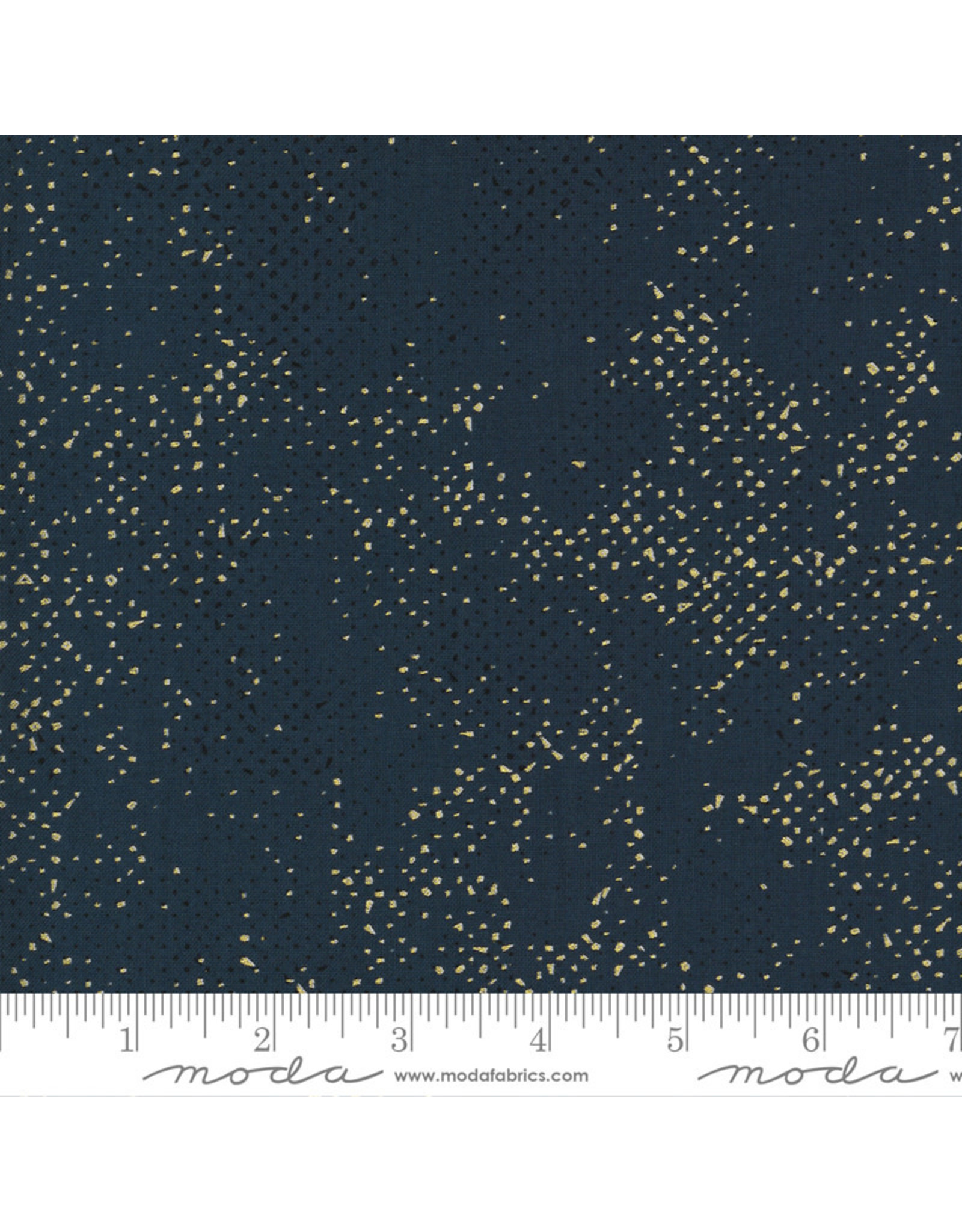 PD's Moda Collection Dance in Paris, Spotted Gold Metallic Dots in Navy, Dinner Napkin