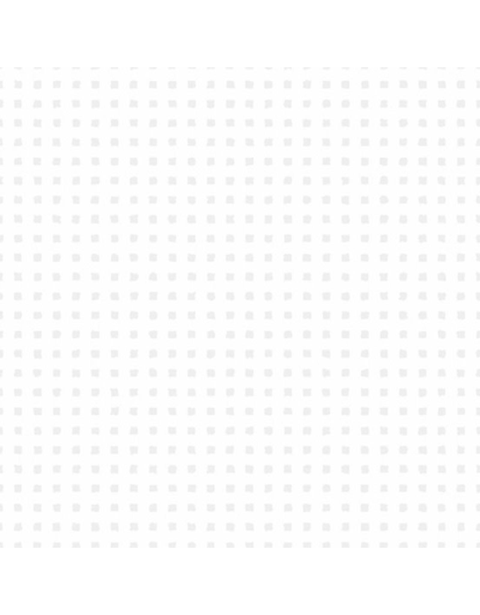 Andover Fabrics Century Whites, White on White Grid, Fabric Half-Yards