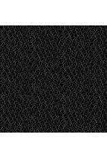 Andover Fabrics Century Black on Black Circles, Fabric Half-Yards