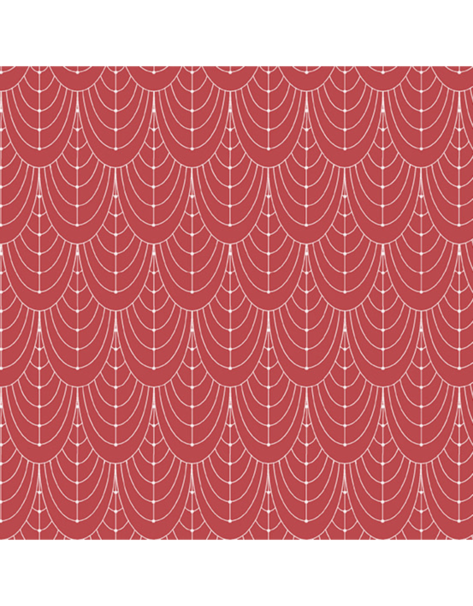 Giucy Giuce Century Prints, Deco Curtains in Barn Rose, Fabric Half-Yards