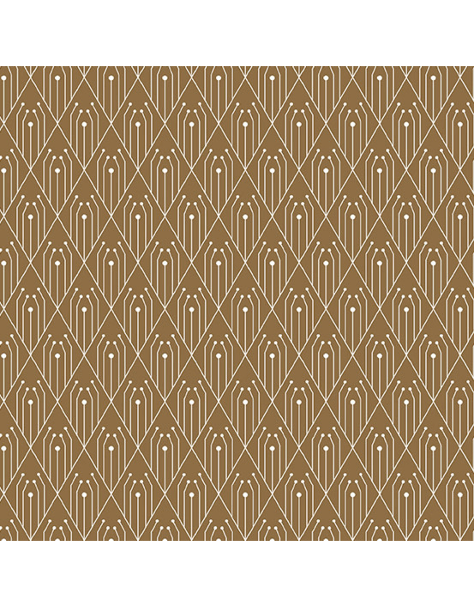Giucy Giuce Century Prints, Deco Diamonds in Cinnamon, Fabric Half-Yards