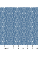 Giucy Giuce Century Prints, Deco Diamonds in Denim, Fabric Half-Yards