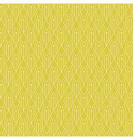 Giucy Giuce Century Prints, Deco Diamonds in Sulphur, Fabric Half-Yards