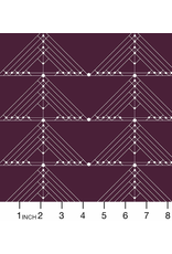 Giucy Giuce Century Prints, Deco Geese in Aubergine, Fabric Half-Yards