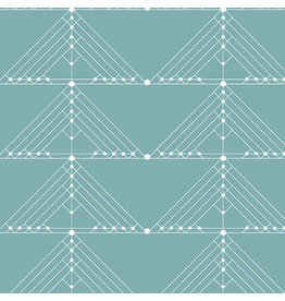 Giucy Giuce Century Prints, Deco Geese in Faded, Fabric Half-Yards