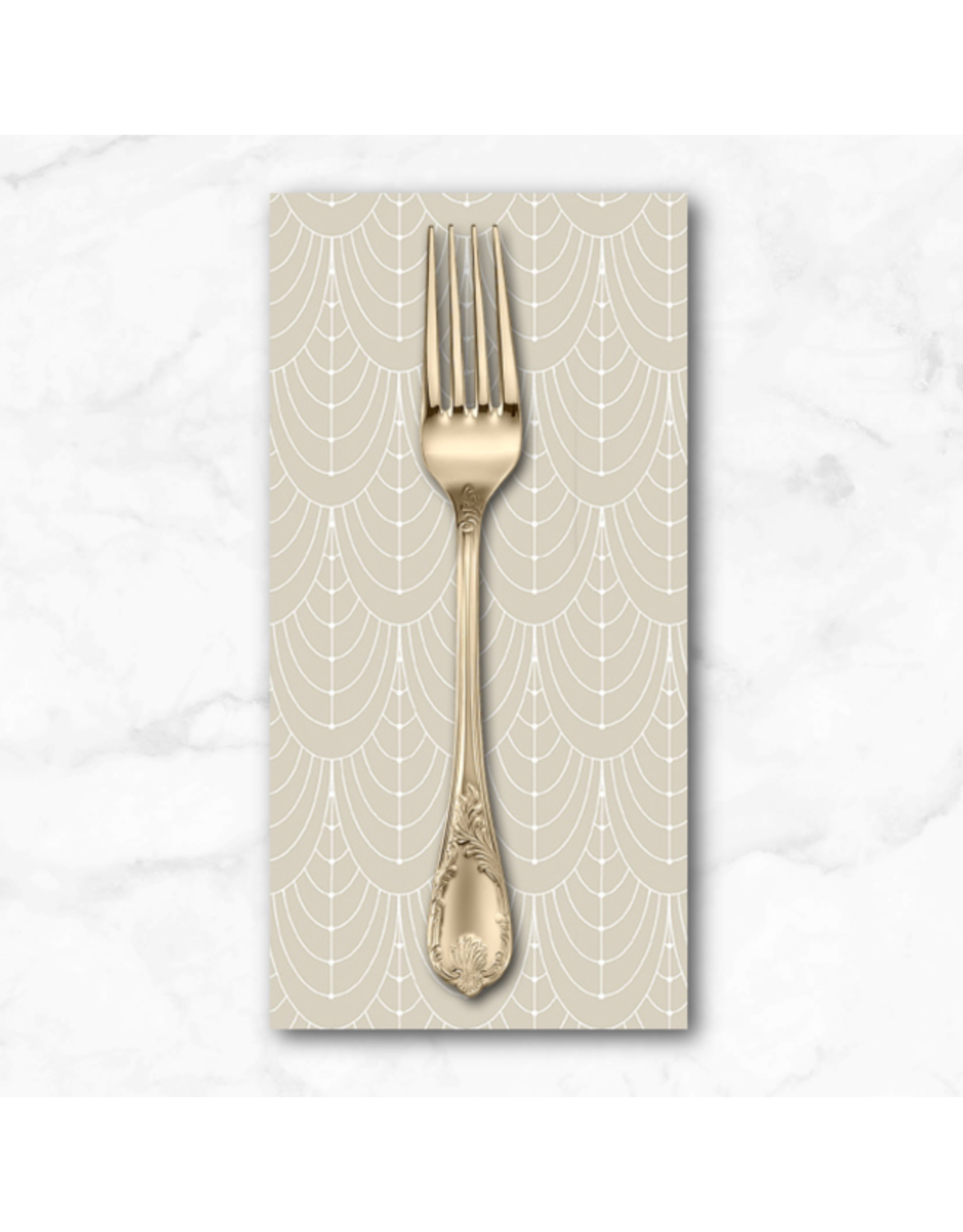 PD's Giucy Giuce Collection Century Prints, Deco Curtains in Champagne, Dinner Napkin
