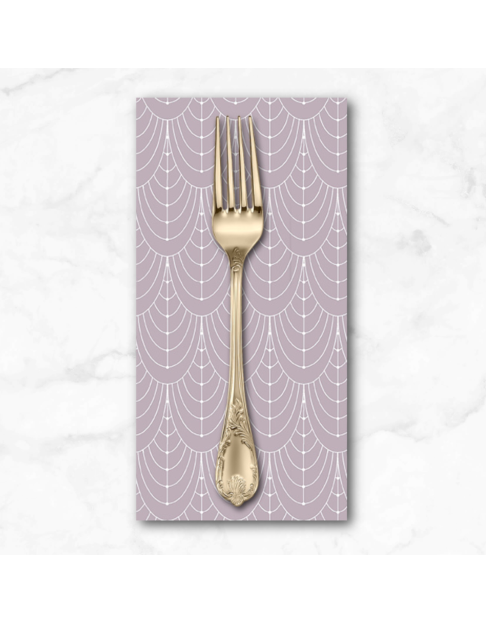 PD's Giucy Giuce Collection Century Prints, Deco Curtains in Whisper, Dinner Napkin
