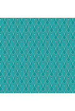 PD's Giucy Giuce Collection Century Prints, Deco Diamonds in Teal, Dinner Napkin
