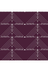 PD's Giucy Giuce Collection Century Prints, Deco Geese in Aubergine, Dinner Napkin