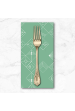 PD's Giucy Giuce Collection Century Prints, Deco Tiles in Jade, Dinner Napkin
