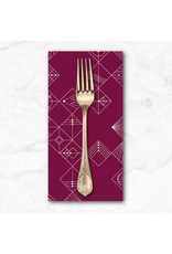 PD's Giucy Giuce Collection Century Prints, Deco Tiles in Mulberry, Dinner Napkin