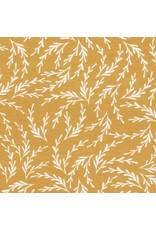 Robert Kaufman Laguna Lightweight Jersey Knit, Kelp in Caramel, Fabric Half-Yards