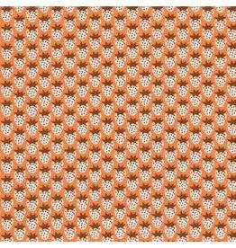 Robert Kaufman Laguna Lightweight Jersey Knit, Strawberries in Creamsicle, Fabric Half-Yards