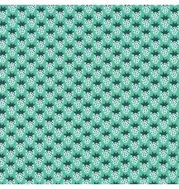 Robert Kaufman Laguna Lightweight Jersey Knit, Strawberries in Sage, Fabric Half-Yards