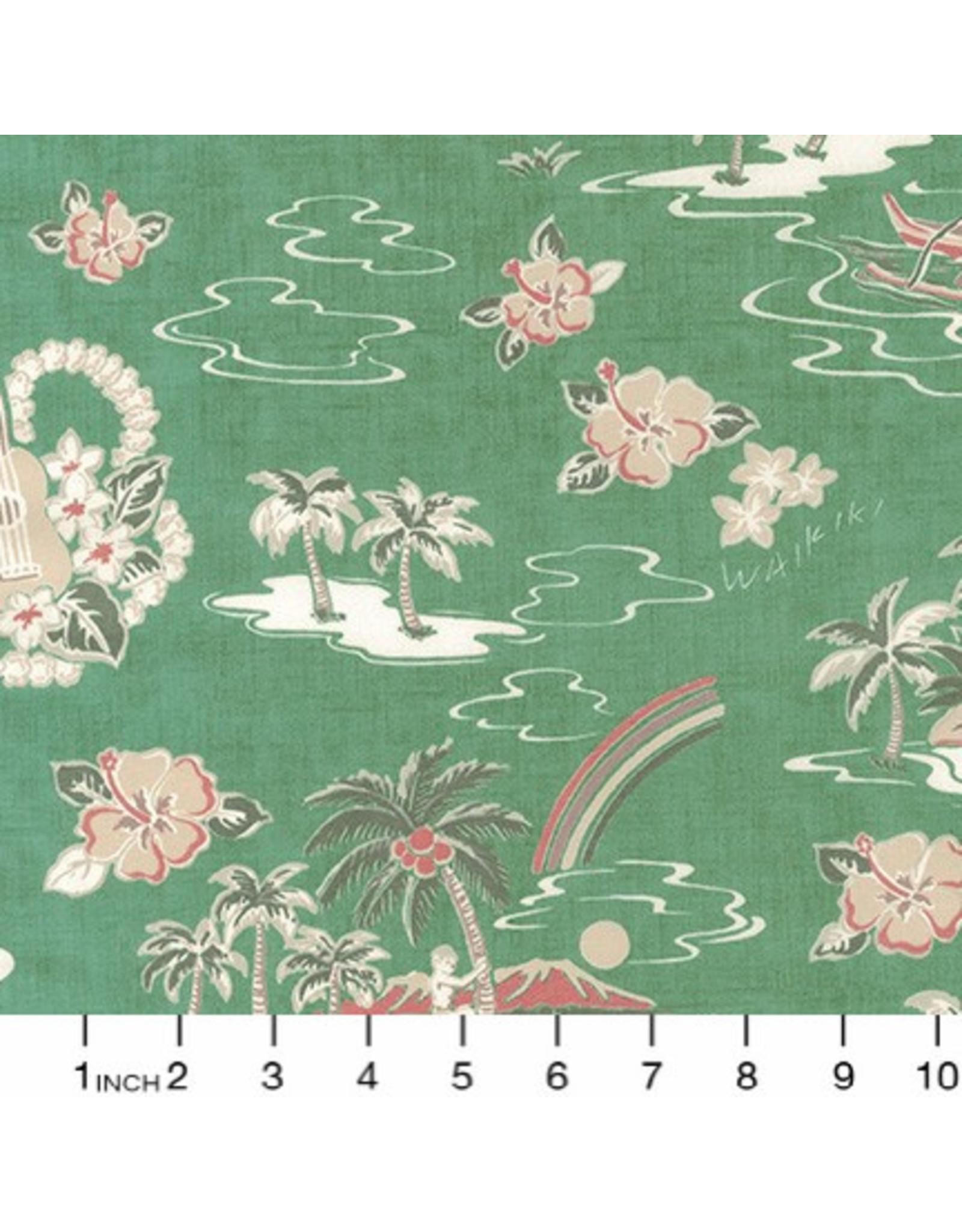 Sevenberry Rayon Lawn, Ecovero Aloha Prints, Hawaii in Tropical, Fabric Half-Yards