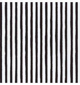 Robert Kaufman Dot and Stripe Delights, Stripes in Black, Fabric Half-Yards