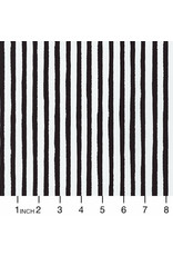 PD's Robert Kaufman Collection Dot and Stripe Delights, Stripes in Black, Dinner Napkin