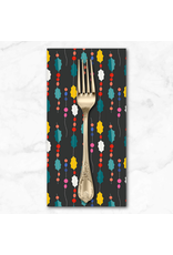 Christmas Collection Peppermint, Garland in Black Multi, Dinner Napkin
