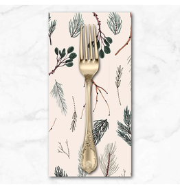 Christmas Collection Winter Frost, Twigs in Beige, Dinner Napkin
