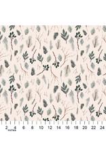 Figo Winter Frost, Twigs in Beige, Fabric Half-Yards