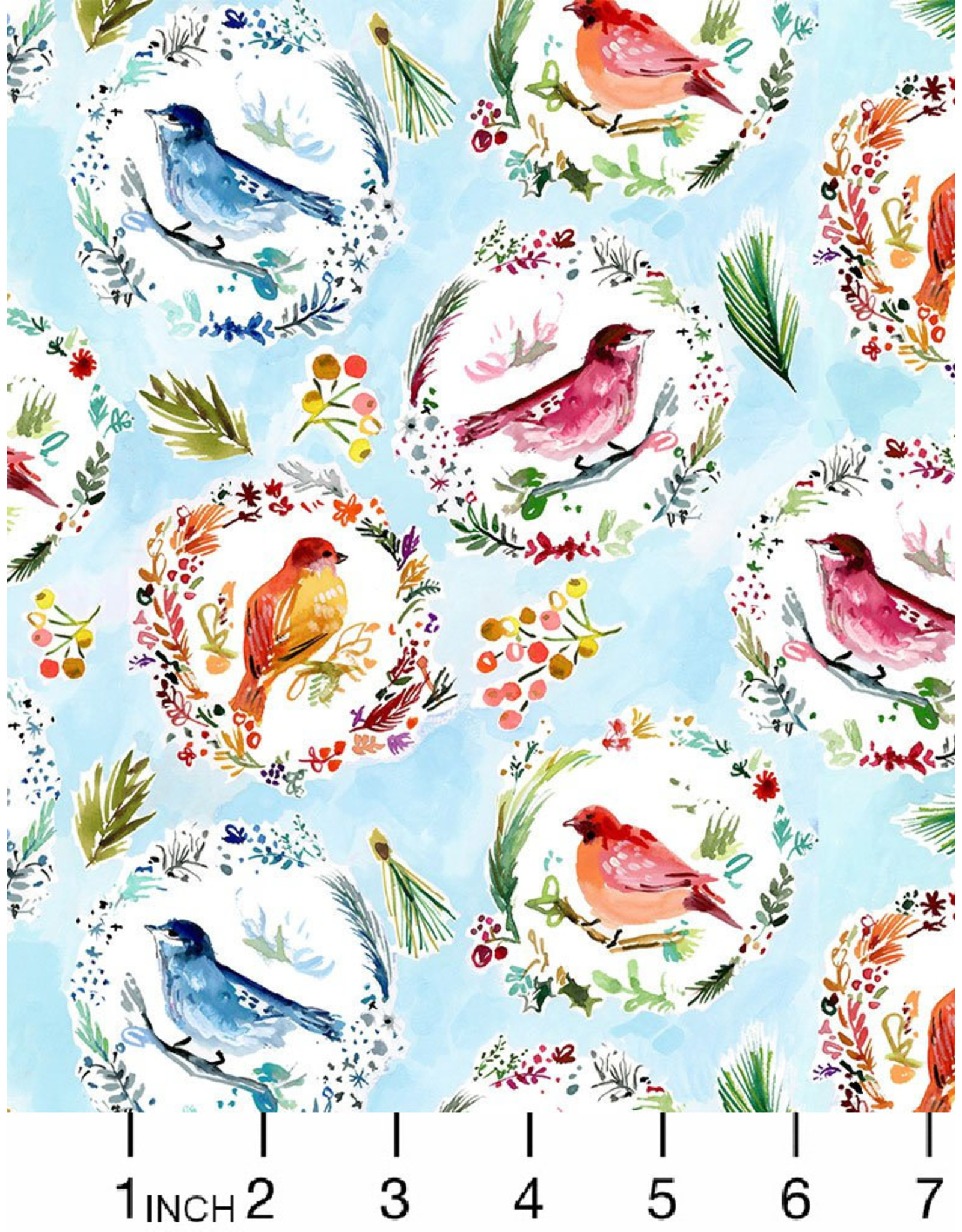 August Wren Love at Frost Sight, Love at First Frost, Fabric Half-Yards