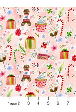 August Wren Love at Frost Sight, Holiday Sweets, Fabric Half-Yards
