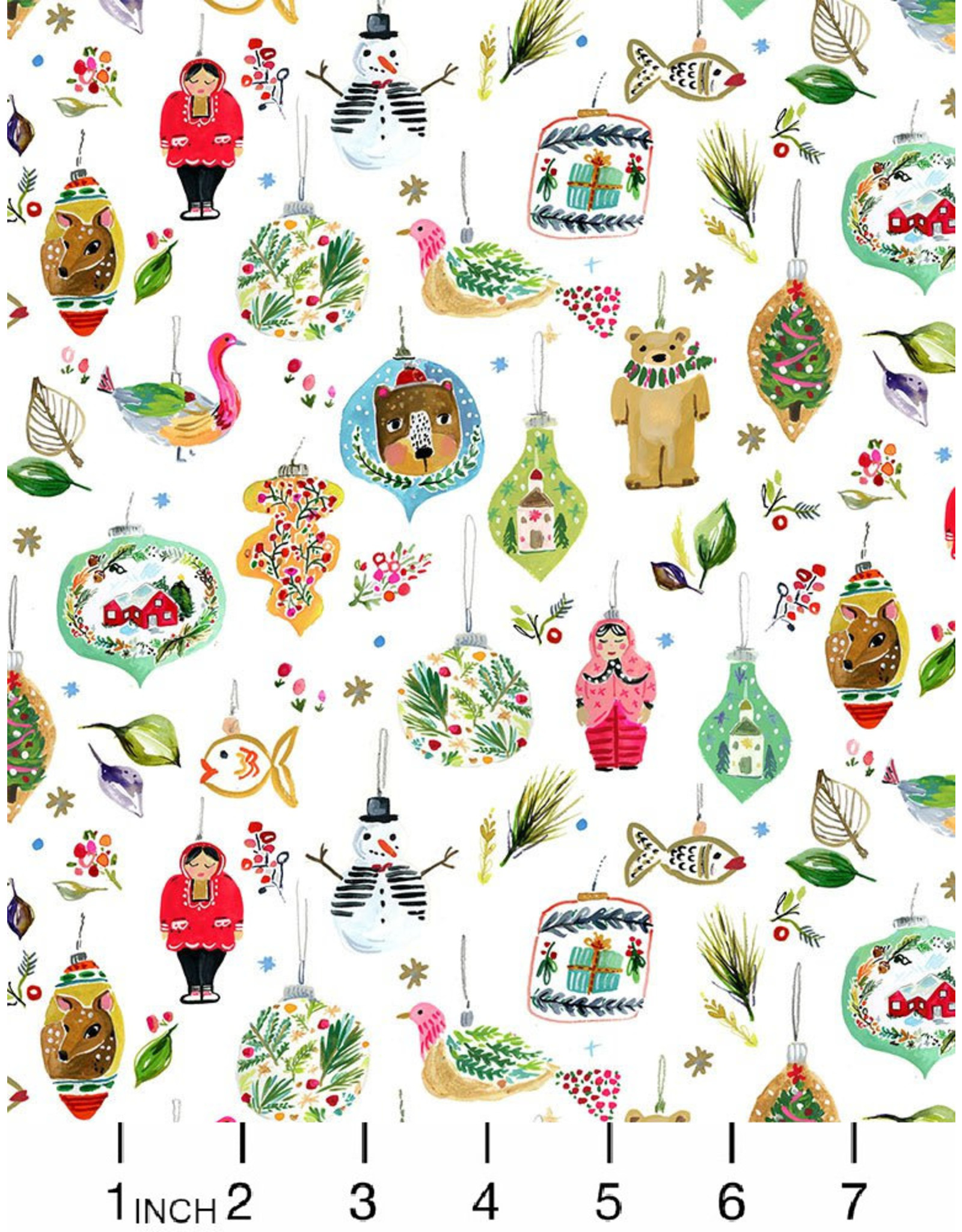 August Wren Love at Frost Sight, Ornaments, Fabric Half-Yards