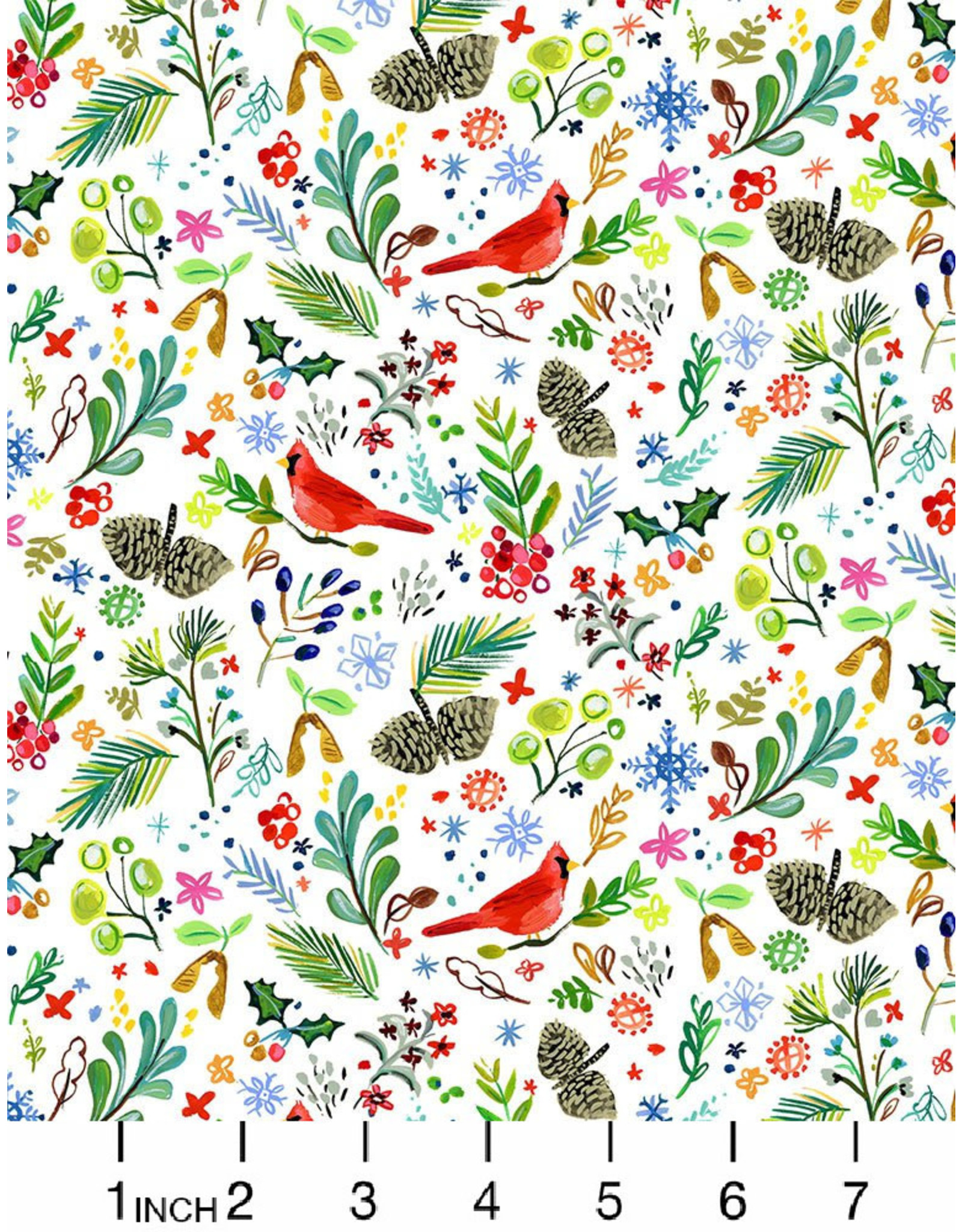 August Wren Love at Frost Sight, Cardinal Rule, Fabric Half-Yards