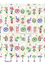 August Wren Game Night, Mahjong, Fabric Half-Yards