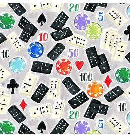 August Wren Game Night, Dominoes, Fabric Half-Yards