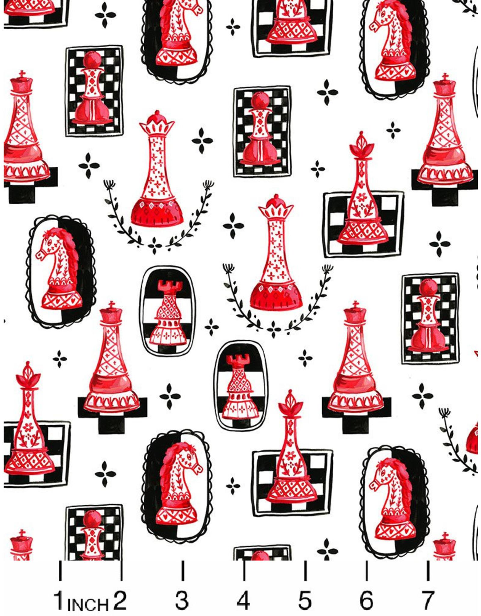August Wren Game Night, Chess, Fabric Half-Yards