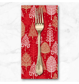 Christmas Collection Scandi 2021, Winter Forest in Red, Dinner Napkin