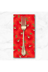 Christmas Collection Classic Foliage, Birds in Red, Dinner Napkin