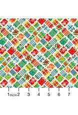 Andover Fabrics Santa Express, Presents in Day, Fabric Half-Yards
