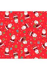 Andover Fabrics Santa Express, Santa in Red, Fabric Half-Yards