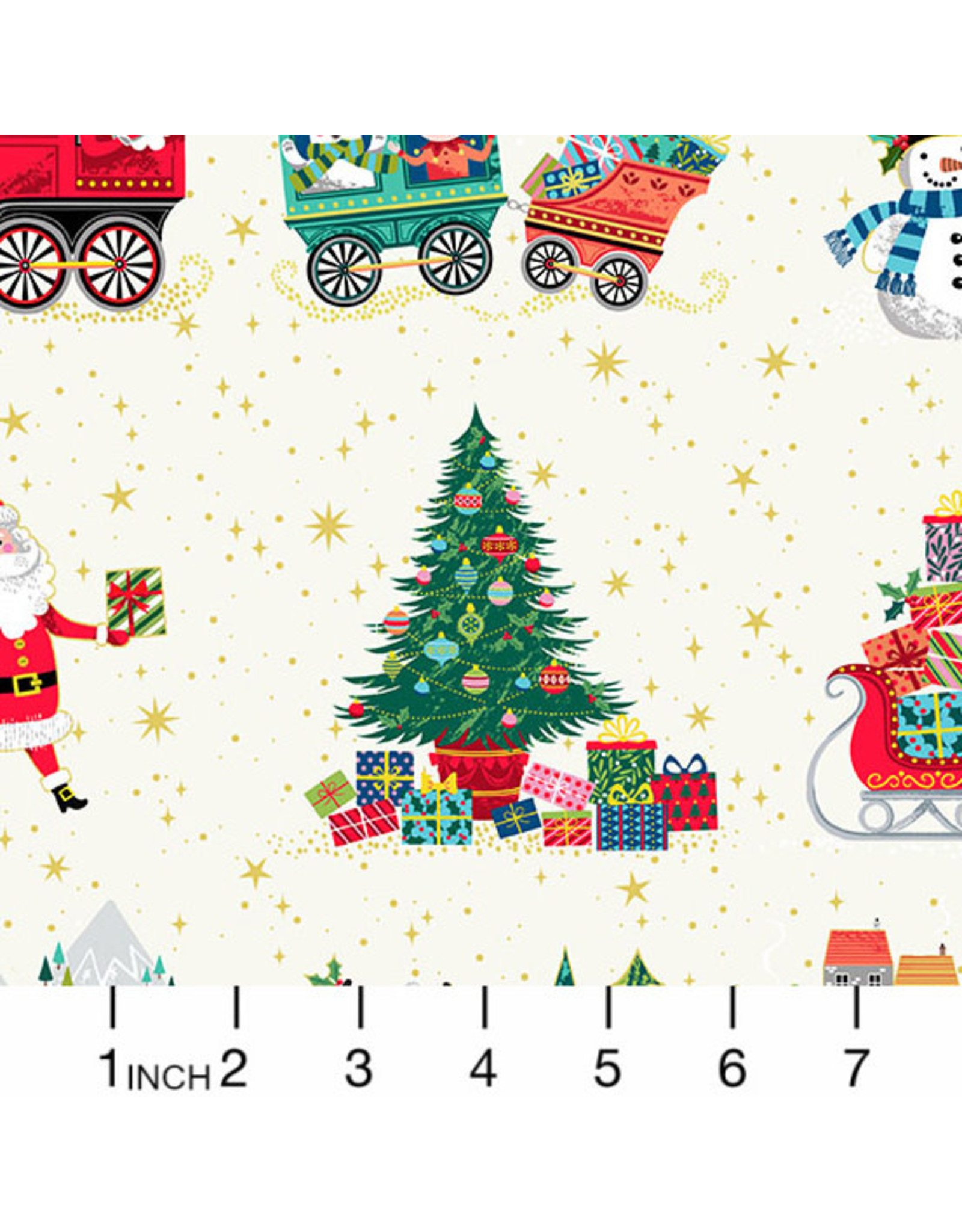 Christmas Collection Santa Express, Placement in White, Dinner Napkin