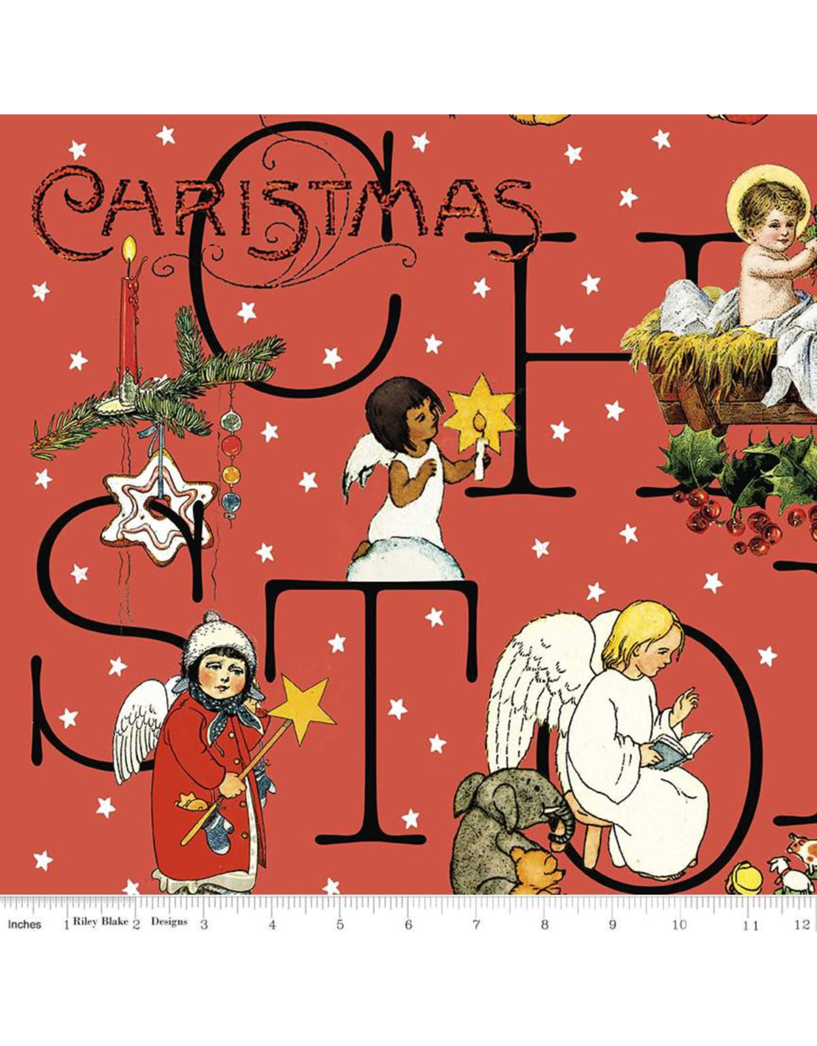 Christmas Collection All About Christmas, Story in Red, Dinner Napkin