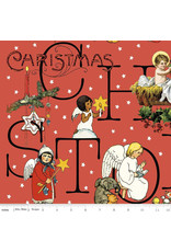 J. Wecker Frisch All About Christmas, Story in Red, Fabric Half-Yards