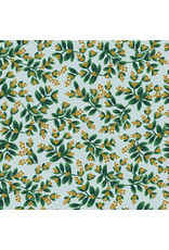 Rifle Paper Co. Holiday Classics, Mistletoe in Mint with Metallic, Fabric Half-Yards