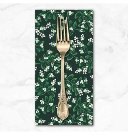 Christmas Collection Holiday Classics, Mistletoe in Evergreen, Dinner Napkin
